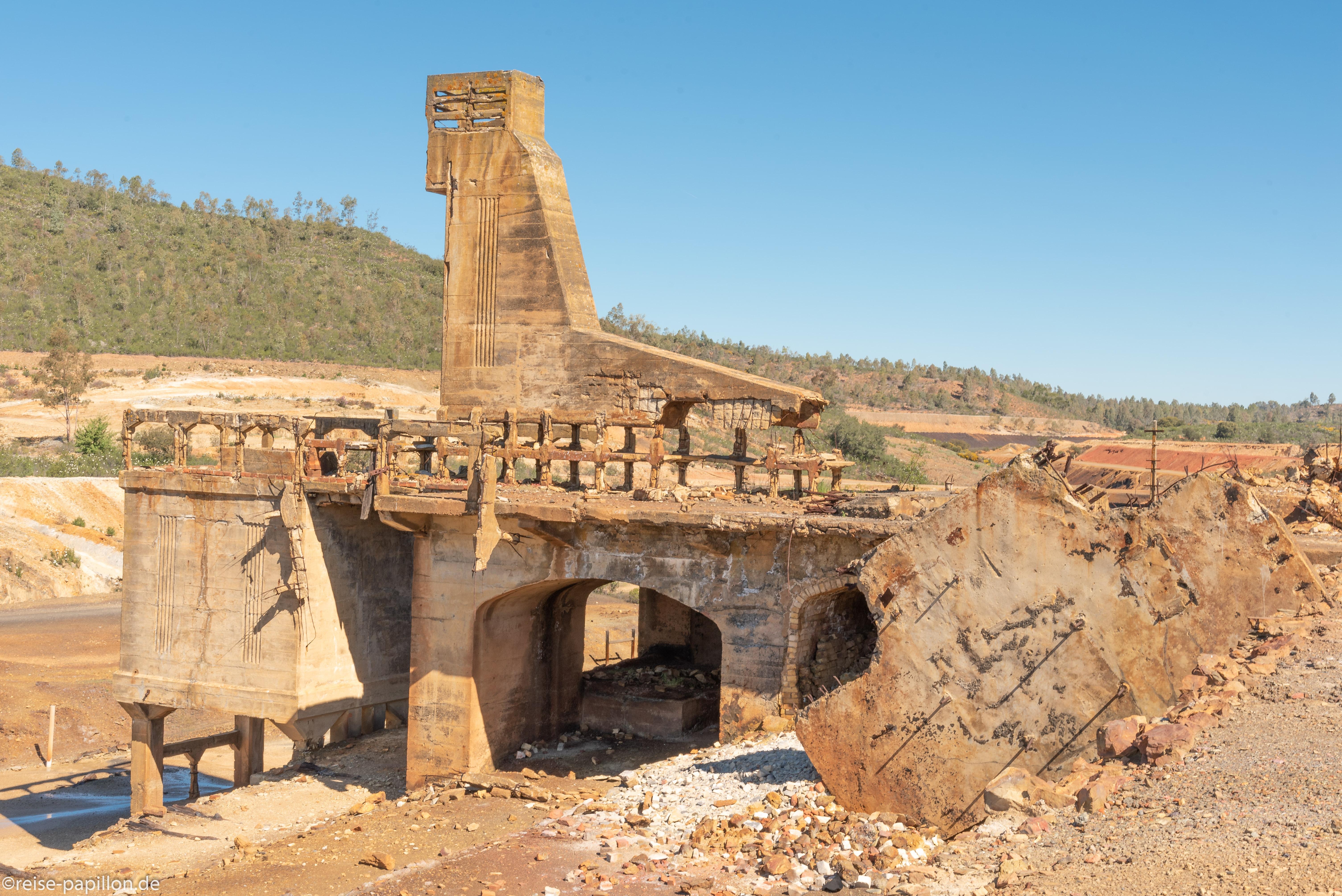 Aufgegebene Kupfermine Sao Domingos